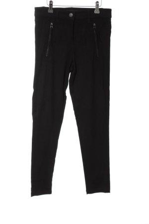 Soyaconcept Pantalon taille haute noir style décontracté