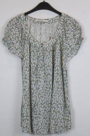 Soyaconcept Kleid Shirtkleid Gr. M beige, blau, braunes Muster (18/4/114)