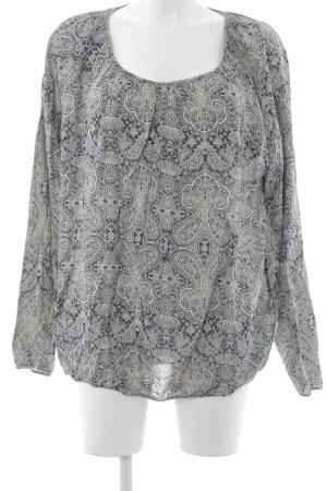 Soyaconcept Langarm-Bluse creme-dunkelblau Casual-Look
