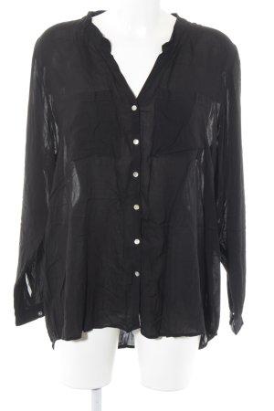 Soyaconcept Langarm-Bluse schwarz Elegant
