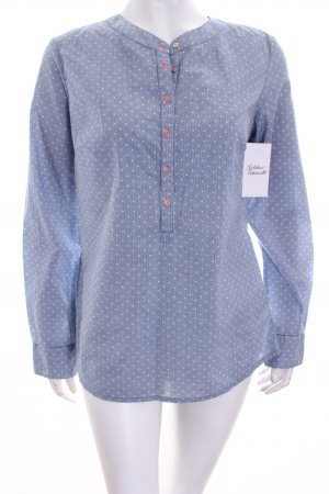 Soyaconcept Langarm-Bluse weiß-himmelblau Casual-Look