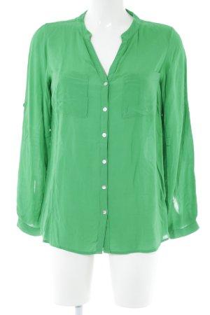 Soyaconcept Blusa larga verde look casual
