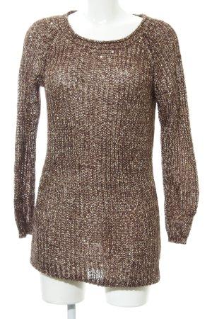 Soyaconcept Pulloverkleid braun-goldfarben extravaganter Stil