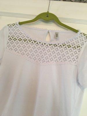 Soyaconcept Shirt weiß Gr. M mit Spitze