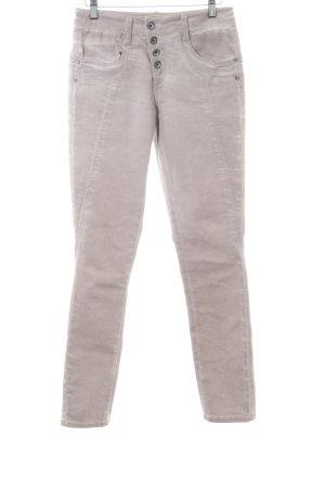 Soyaconcept Jeans slim gris clair-rose moucheté style décontracté