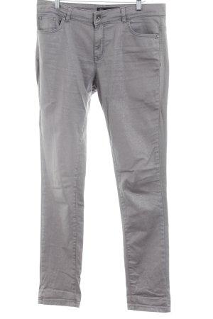 Soyaconcept Slim Jeans grau-silberfarben Punktemuster Casual-Look