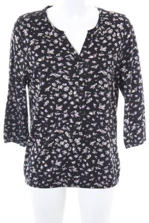 Soyaconcept V-Ausschnitt-Shirt abstraktes Muster Casual-Look