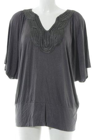Soyaconcept T-shirt col en V gris foncé élégant