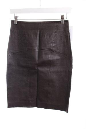 Space Couture Lederrock braun schlichter Stil