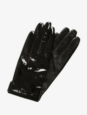 SPACE LEATHER GLOVES Lack black patent Handschuhe