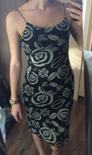 Spagettiträger-Kleid mit Rosen