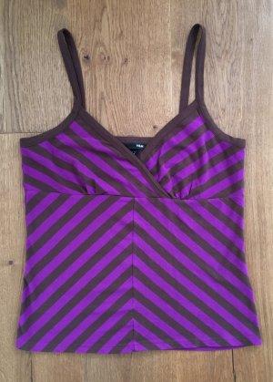 H&M Haut à fines bretelles brun foncé-violet