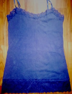Amisu Lace Top blue-dark blue