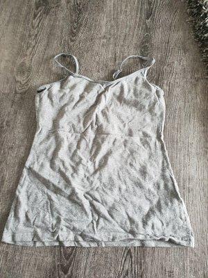 H&M Top con bretelline grigio chiaro