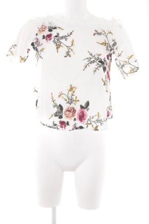 Haut à fines bretelles motif floral style romantique