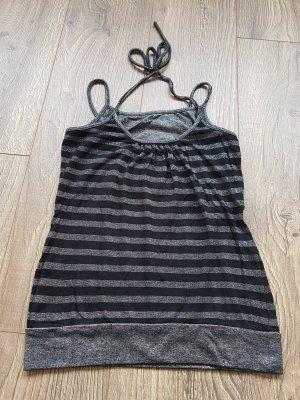 Gestreept shirt zwart-zilver