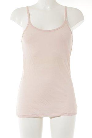 Top con bretelline rosa pallido stile casual