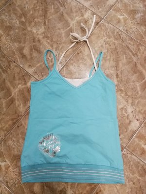 Pimkie Spaghetti Strap Top baby blue cotton