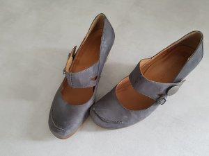 Tamaris Backless Pumps slate-gray leather