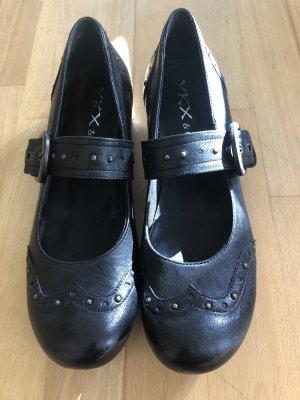 YKX & Co. Escarpin à boucle noir cuir