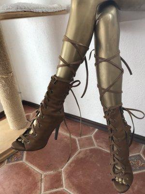 Botas con cordones marrón claro