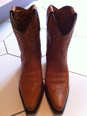 Western Boots cognac-coloured leather