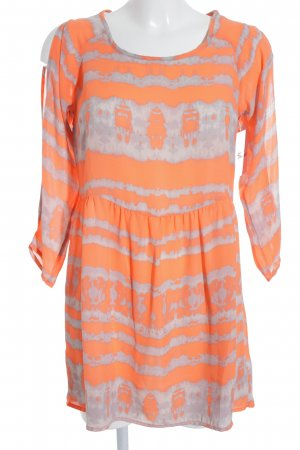 Sparkle & Fade Blusenkleid neonorange-hellgrau Farbverlauf extravaganter Stil