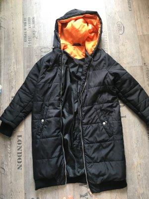 Sparkle & Fade Capuchon jas zwart-oranje