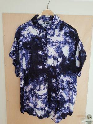 Sparkle & Fade Lila Blau Violett Bluse Oversize Urban Outfitters