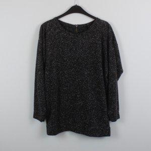 Sparkle & Fade Pullover Gr. S grau meliert mit Reißverschluss auf der Rückseite (18/10/224)