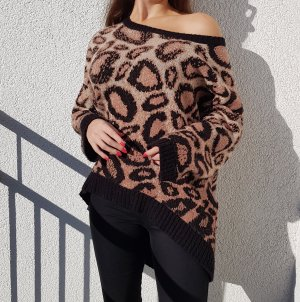 Sparkle & Fade Pullover Sweater Leopard Schwarz Braun Urban Outfitters