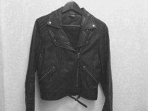 Sparkle & Fade REAL leather jacket black