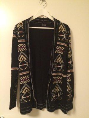 Sparkle & Fade Strickjacke schwarz mit (weihnachtlichem) Muster Urban Outfitters