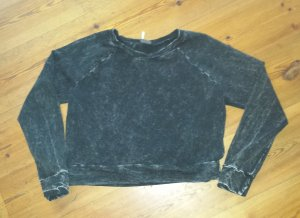 Sparkle & Fade Sweatshirt Crop grau schwarz Gr. M  NEU Urban Outfitters