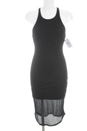 Sparkle & Fade Trägerkleid schwarz Streifenmuster schlichter Stil