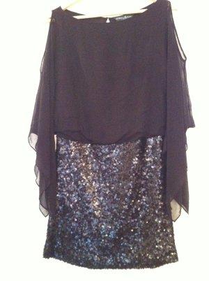 Sparkling Dress Guss Kleid Schwarz mit Pailletten