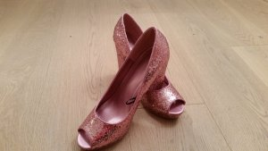 Sparkling Peeptoes mit Plateau