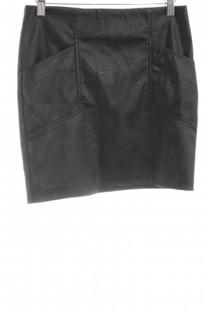 Sparkz Faux Leather Skirt black casual look