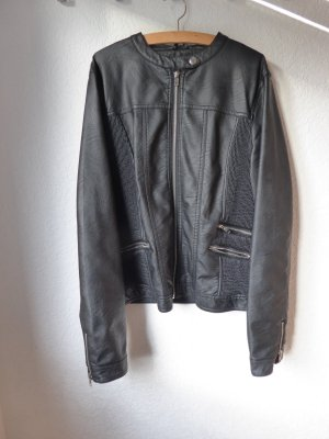 Sparkz Lederjacke in schwarz Größe L