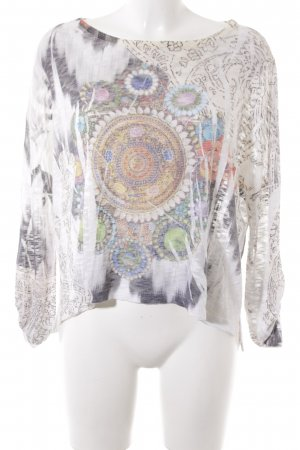 Spazio Donna Camisa tejida estampado con diseño abstracto estampado azteca