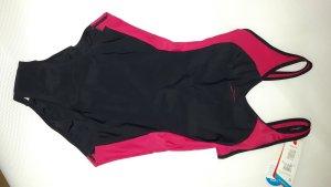 Speedo Badeanzug in schwarz beerenfarbiger Sportbadeanzug, nie benutzt
