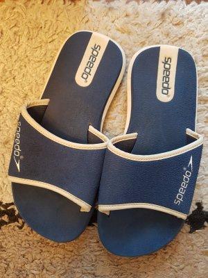 Speedo Sandalias cómodas blanco-azul oscuro