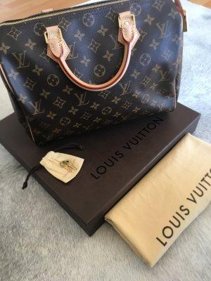 Louis Vuitton Sac à main brun-beige cuir