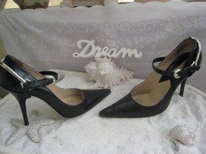 Spektakuläre Luxus High Heels Frech & Sexy Stilettos  10,5 cm mit Steigbügel sehr hoher NP Top