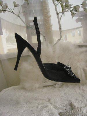 Spektakuläre Luxus Sling´s Swarovski Schleife & Ring Elegant & Edel Top Neu