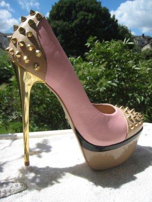 Spektakuläre Sexy City Luxus High Heels Stilettos 14,7 cm NP 169 € Top Neu