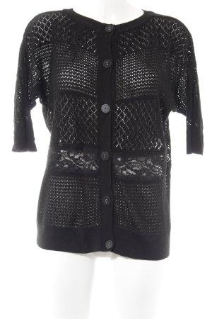 Spense Pullover all'uncinetto nero stile casual