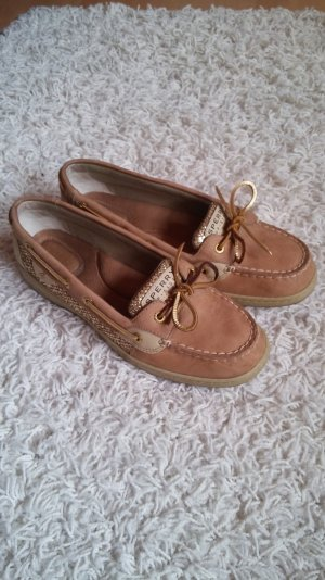 Sperry Top Sider Gold Glitter 40.5, fallen aus wie 41