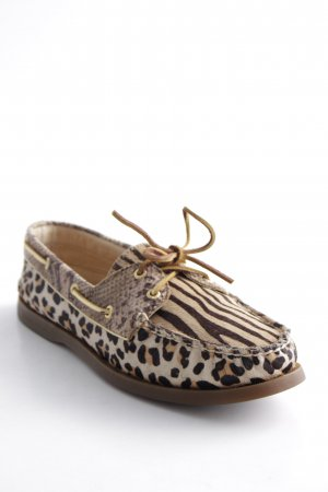 Sperry top-sider Schlüpfschuhe hellbraun Animalmuster Animal-Look