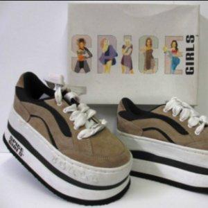 Spice Girls Schuhe Plateau Schuhe Gr.38 retro Original